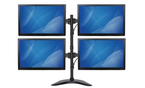Modelo de brazo ARMBARQUAD con cuatro monitores