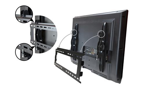 Diseño tipo enganche del soporte FLATPNLWALL de TV para montaje en pared