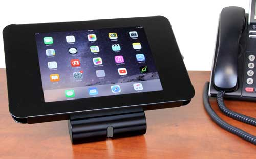 This lockable iPad enclosure lets you create a sleek POS system or interactive marketing kiosk.