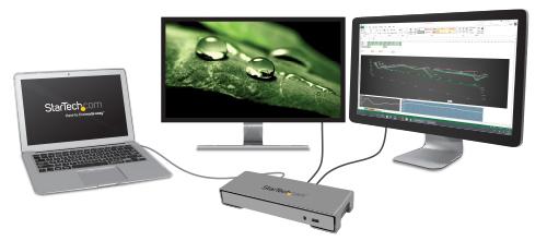 Una amplia gama de opciones de visualización, con un monitor HDMI 4K y un monitor Thunderbolt