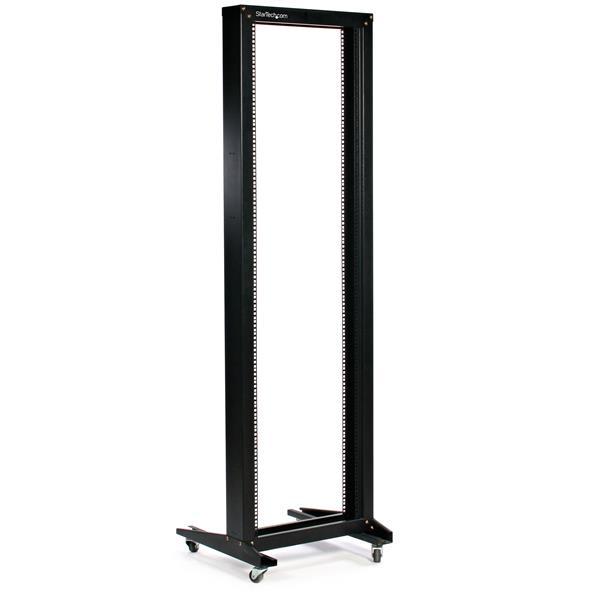 42u 2 post open frame rack open frame server racks. Black Bedroom Furniture Sets. Home Design Ideas