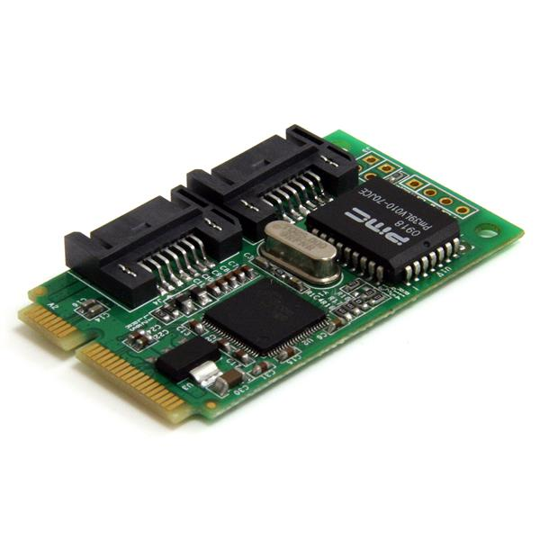 Large Image for 2 Port Mini PCI Express Internal SATA II Controller Card