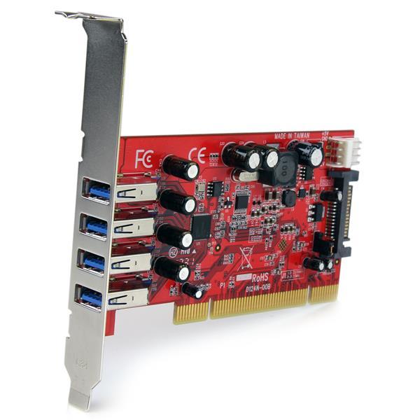 4 port pci usb 3 0 card w sata power usb 3 0 host - Carte controleur pci express 4 ports usb 3 0 ...