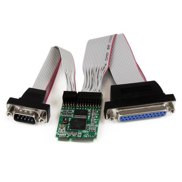 Serial Parallel Card - Mini PCI Express | 2 port ...: http://www.startech.com/uk/Cards-Adapters/Serial-Cards-Adapters/mini-PCI-Express-Parallel-and-Serial-Card-16950-UART~PEX1S1PMINI