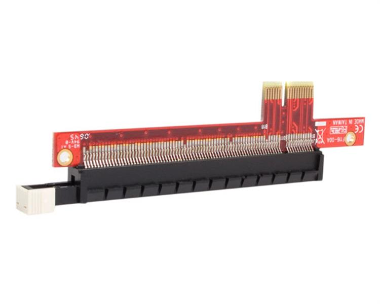 Pcie x1 x16 slot extension adapter