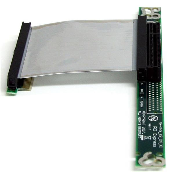 Pci express x4 to x16 slot extension adapter
