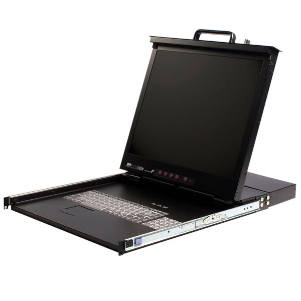 """17"""""""" Rackmount LCD Console w/16 Port KVM 