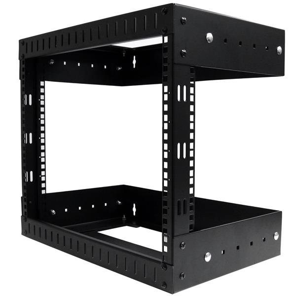 Large Image for 8U Open Frame Wall Mount Equipment Rack - Adjustable Depth