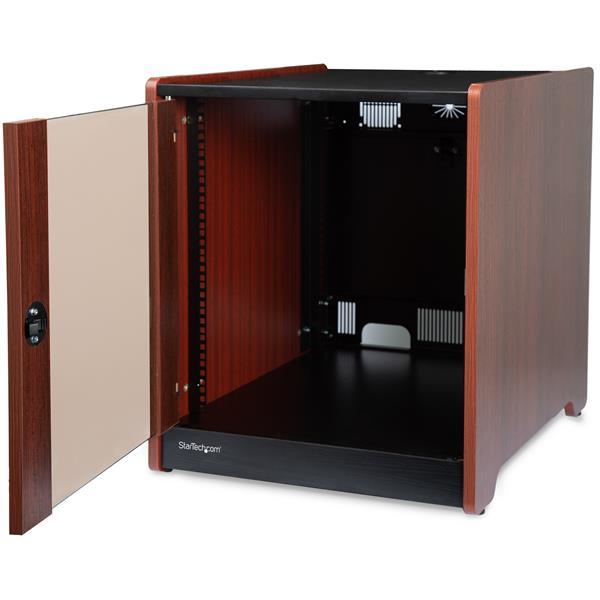 Armario Rack Servidores ~ Armario de servidor con acabado de madera 12U Racks y armarios para servidor StarTech com
