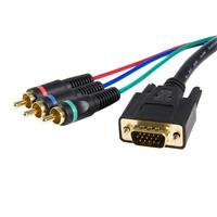 HD15 to Component RCA Breakout Cable Adapter - M/M