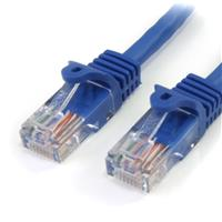 Snagless Crossover Cat5e Patch Cable (UTP) - Blue