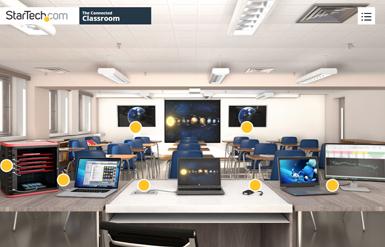 La salle de classe connectée