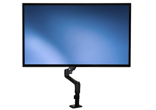 The ARMPIVOTE Articulating Monitor Arm lets you raise or lower your display with minimal effort, and offers a wide range of motion on several axes.