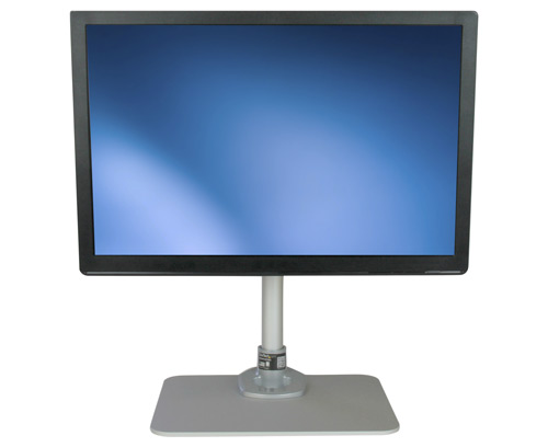 The ARMPIVSTND desktop monitor stand supports a 12 to 30 inch monitor, and allows easy adjustment of monitor height, position and viewing angles.
