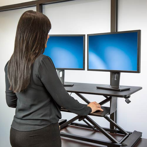 ARMSTSL transforms a desktop into a standing desk