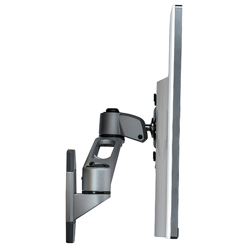 ARMWALLDS2 with swivel arm can tuck close to the wall