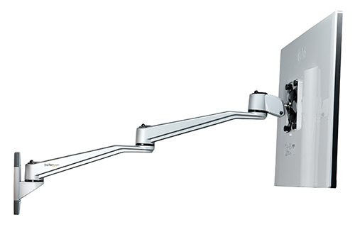 ARMWALLDSLP with dual swivel arms for an extended range of motion