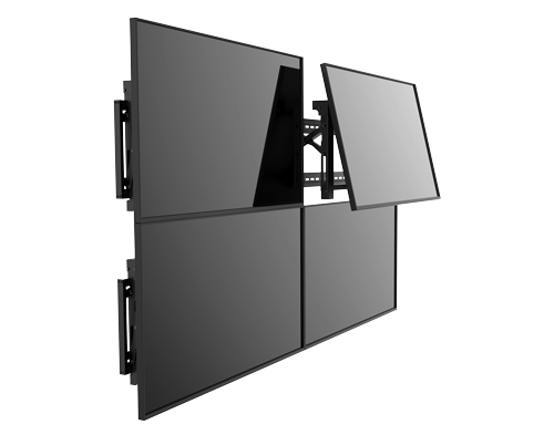 This impressive video wall mounting system can utilize multiple displays.