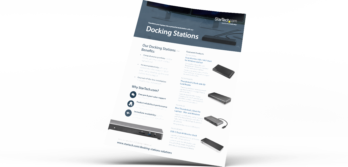 Laptop Docking Stations | StarTech com