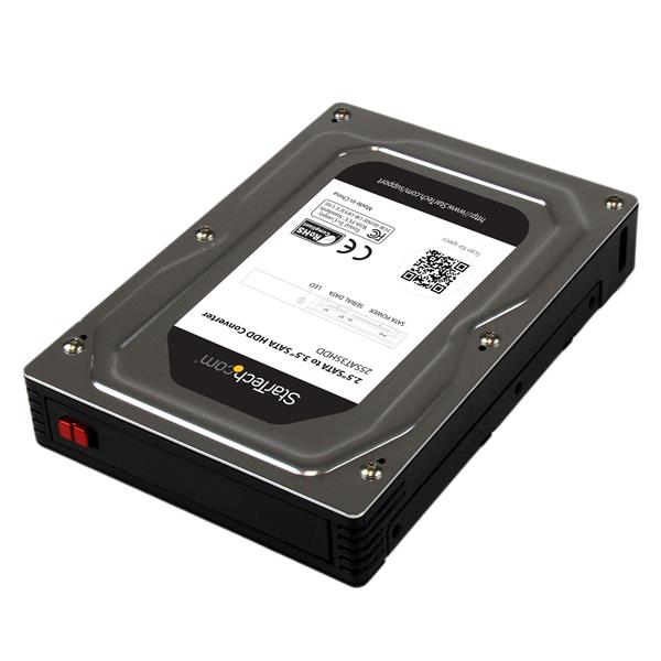 "Large Image for 2.5"" to 3.5"" SATA Aluminum Hard Drive Adapter Enclosure with SSD / HDD Height up to 12.5mm"