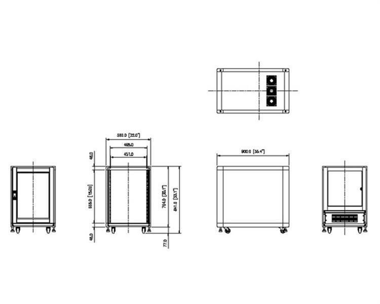 15u Rack Enclosure Server Cabinet 29 In Deep Built In Fans