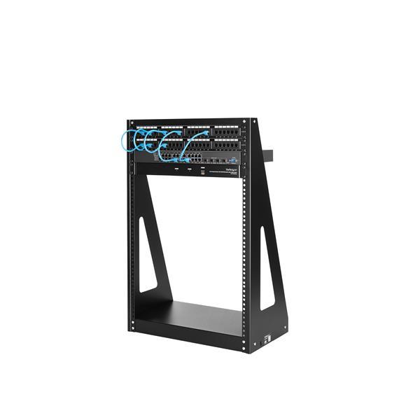 StarTech.com Rack de serveur robuste 12U /à 2 montants Armoire serveur /à cadre ouvert 2POSTRACK12