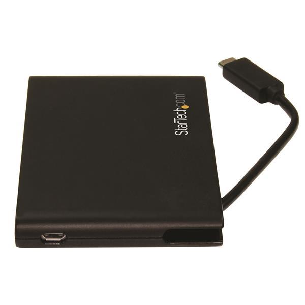 USB 3.0 with USB-C StarTech.com Dual-Slot SD Card Reader//Writer UHS II Portable SD//SDHC//SDXC Card Reader//Writer with UHS-II SD 4.0
