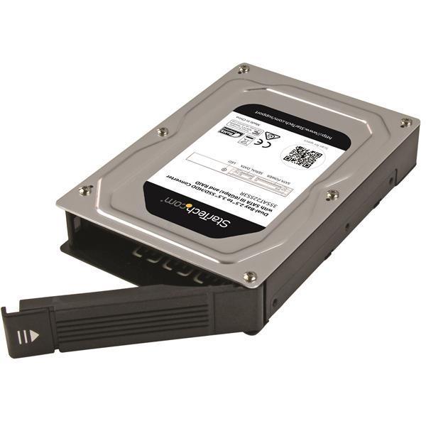 Dual-Bay 2 5 to 3 5 SATA Hard Drive Adapter Enclosure with RAID