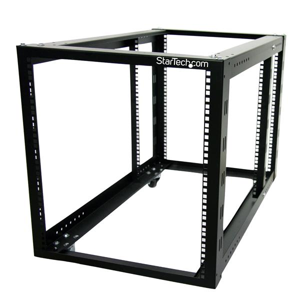 Open Rack - 12U Open Frame Server/Network Rack | Adjustable Posts ...