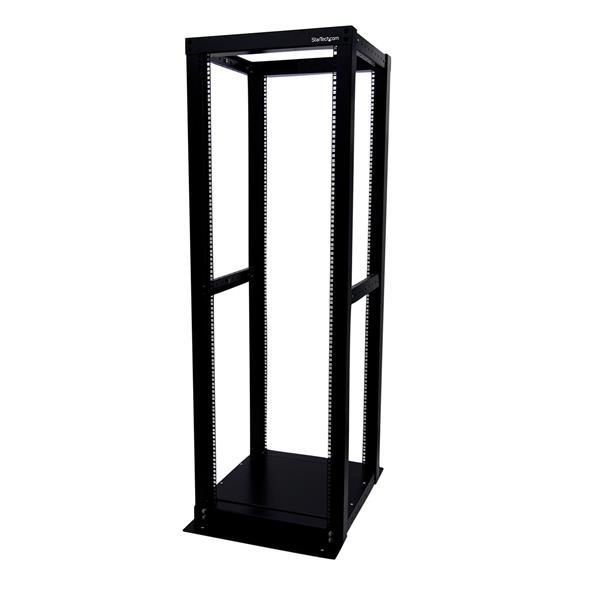 Open Frame Rack - 36U 4 Post Rack/Cabinet with adjustable posts ...