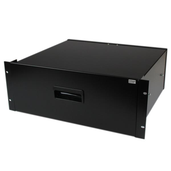 Large Image for 4U Black Steel Storage Drawer for 19in Racks and Cabinets