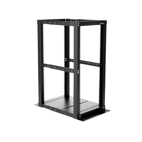 25u Open Frame Rack Cabinet 4 Post Adjustable Depth