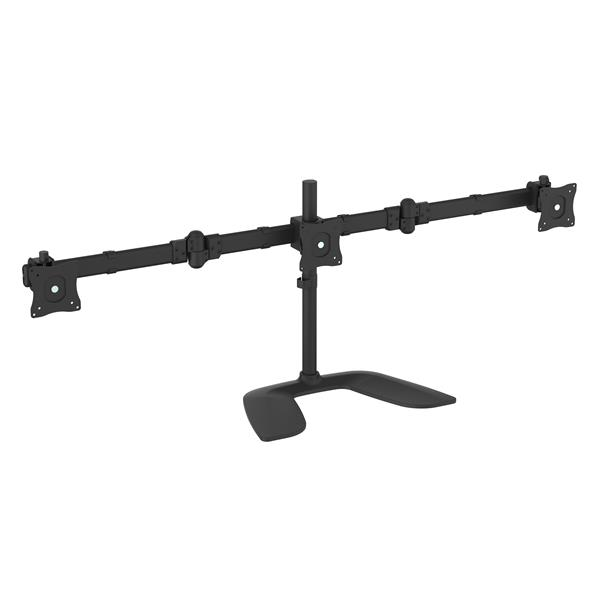 Large Image for Triple-Monitor Desktop Stand - Articulating