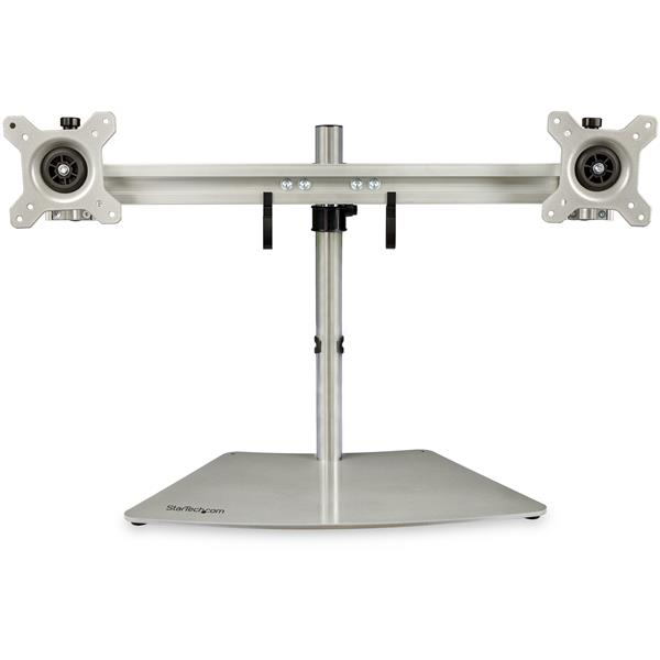 Dual-Monitor Stand - Horizontal - Silver