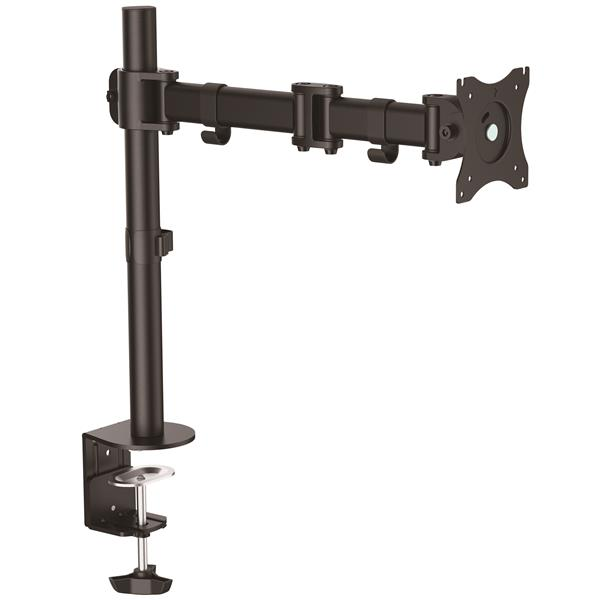 monitor mount with articulating arm heavy duty steel. Black Bedroom Furniture Sets. Home Design Ideas