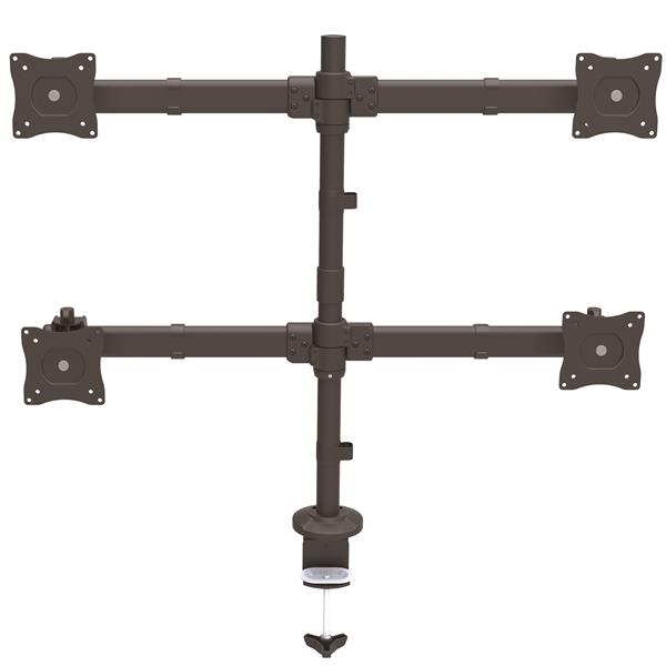 Thumbnail 2 For Desk Mount Quad Monitor Arm   Articulating   Heavy Duty  Steel