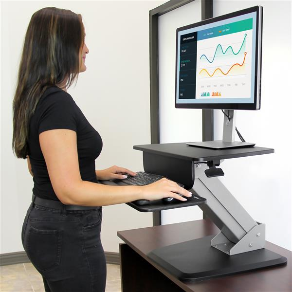 Sit Stand Workstation Display Mounting Startech Com