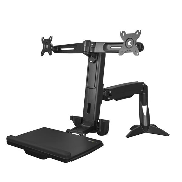 Large Image for Sit-Stand Dual-Monitor Arm