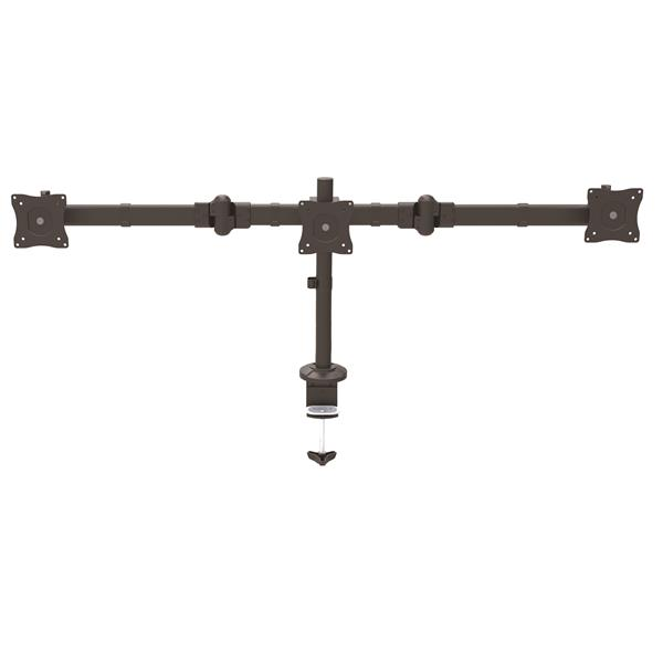 Large Image for Desk-Mount Triple Monitor Arm - Articulating