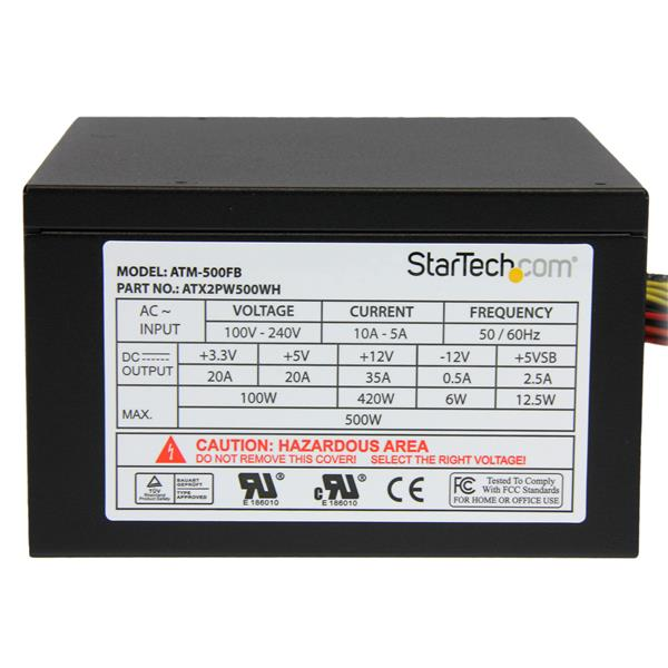 500 Watt ATX12V 2 3 80 Plus Computer Power Supply w/ Active PFC
