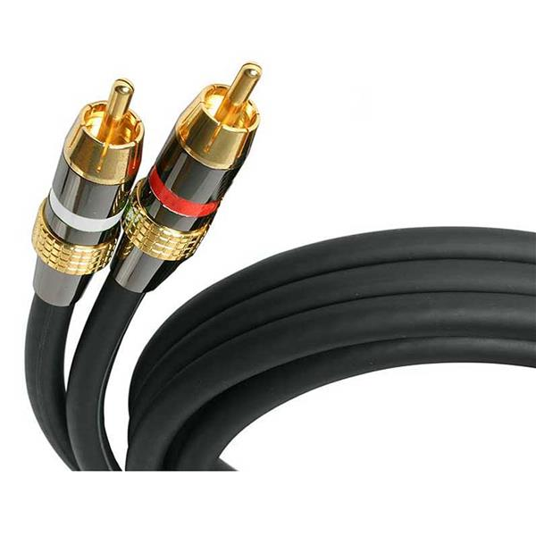 Large Image for 15 ft Premium Stereo Audio Cable RCA - M/M