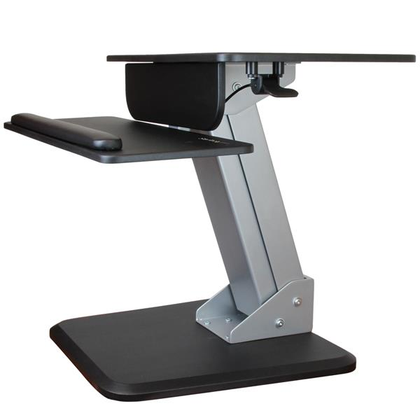 Sit Stand Workstation Dual Display Mount Startech Com