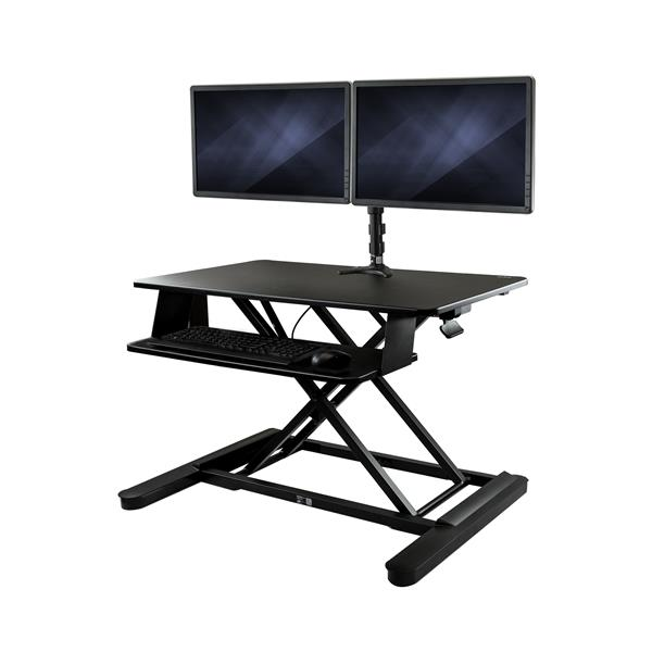 "Large Image for Dual Monitor Sit-Stand Desk Converter - 35"" Wide Work Surface"