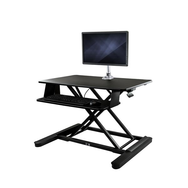 "Large Image for Sit-Stand Desk Converter with Monitor Arm - 35"" Wide Work Surface - For up to 30"