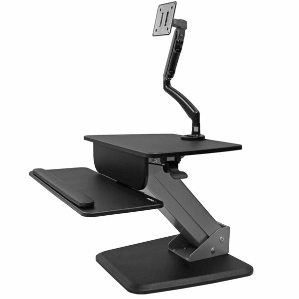 Sit Stand Workstation Single Articulating Display Mount