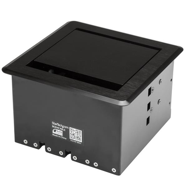 Table Panel Boxes Cable Access Box For Conference Tables - Conference table av box
