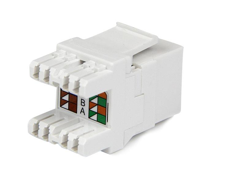 Cat6 Keystone RJ45 Ethernet 180degree 110 type StarTechcom