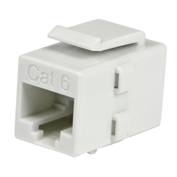 Cat6 rj45 coupler keystone jack white wall plates startech thumbnail 1 for white cat 6 rj45 keystone jack network coupler ff sciox Choice Image