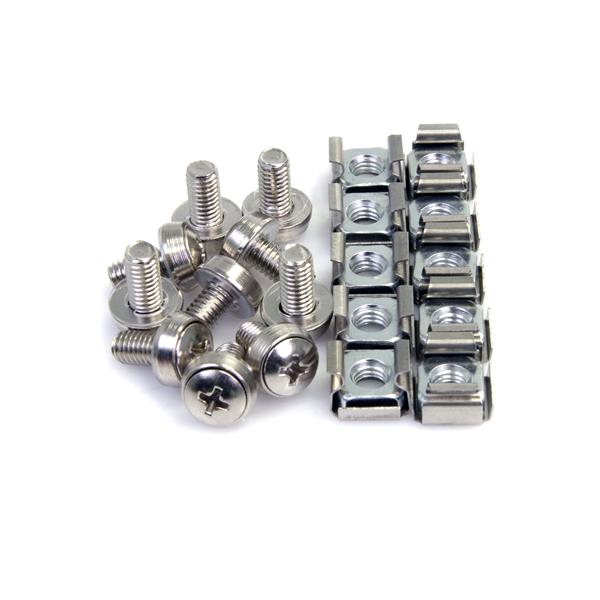 Large Image for 100 Pkg M6 Mounting Screws and Cage Nuts for Server Rack Cabinet