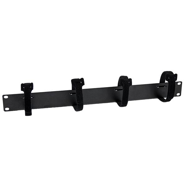 Large Image for Cable Management Panel with Hook and Loop Strips for Server Racks - 1U